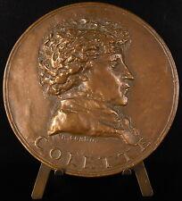 Medaille à Sidonie-Gabrielle Colette romancière La Maison de Claudine 80mm Medal