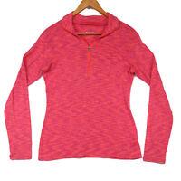 Columbia Women's Pink Heathered 1/4 Zipp Pullover Top - Size Medium
