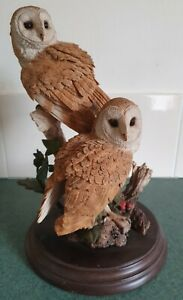 QUALITY COUNTRY ARTISTS BARN OWL PAIR CA 604