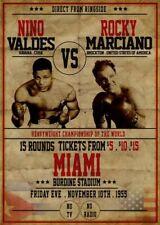 ROCKY MARCIANO vs NINO VALDES 8X10 PHOTO BOXING PICTURE