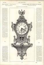 1882 Elegant Clock Gilt Copper Tortoiseshell Rams Heads French Louis Xvi