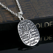 Tree Of Life Necklace Silver Pendant Positive Jewellery Family Peace Health Gift