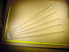 5 x Glasrohr Ø aussen 12 mm , Ø innen 9,4 mm , 50 cm lang , Glass tube