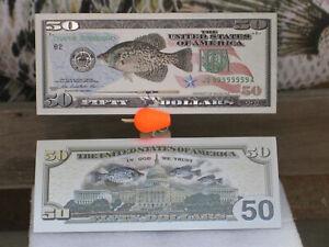 2 Silver Crappie Notes Hunting Skulls Bills Fishing Antler Bow Mounts Fish Chews
