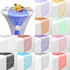 """10Pcs 14""""x 108"""" Rectangle Organza Table Runner Wedding Party Banquet Decoration"""