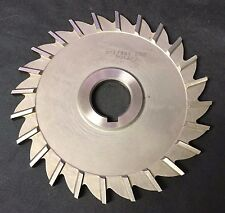 Poland 5 x 1/4 x 1 24T HSS Straight Tooth Side Mill Slitting Saw