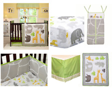 Carter's Animals Collection 5p Crib Bedding & Bumper Set Unisex Baby Gift NEW
