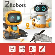Robot Set - 2 Line Following Chasing Toy Race Explore The World Game Kids Gift