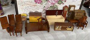 Vintage Jean West Germany Doll's HouseFurniture Caroline's Home Barton Big Lot