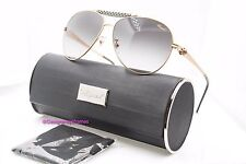 CHOPARD SCH 870S 383F Matte Gold Black Gray Grad Aviators Sunglasses NWT AUTH
