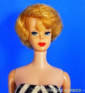 Blond 1st Issue Bubble Cut Barbie Doll #850 Excellent -  Vintage 1960's