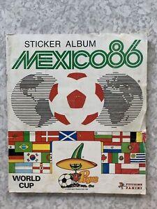 Panini Mexico 86 Complete World Cup Sticker Album 1986