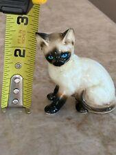 Darling Enesco Vintage Porcelain Siamese Cat Figurine - 2 1/2 inches