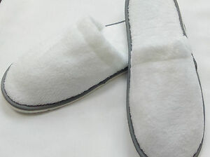 WHOLESALE LUXURY HOTEL SLIPPERS SUPERSOFT CORAL FLEECE CLOSED TOE GREY PIPE 29CM