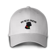 MY BEST FRIEND BLACK LAB DOG Embroidery Embroidered Hat Baseball Cap