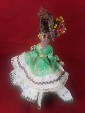 "Vintage Carmen Miranda Doll Circa 1950 12"" Tall"