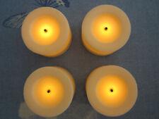 ELAMBIA 4 flammenlose Teelichter Longlife ca. 400 h Brenndauer + 5 Std. Timer