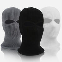 Army Tactical Warm Ski Cycling 2 Hole Balaclava Hood Cap Full Face Mask Intrig