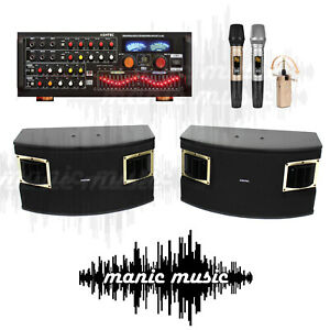 ASHTEC 1200w Bluetooth Mixer Amplifier Speakers Cordless Microphone Karaoke DJ