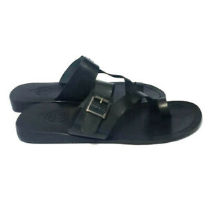 Men's Leather Sandals . Leather Sandals - Open Toes  - Ring Toe