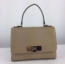 $278 MICHAEL KORS Callie Camel Leather Medium TH Satchel Shoulder Bag Purse