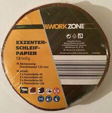 Excenter Schleifpapier 12 teilig Durchmesser 125 mm KLETT für Holz und Metall