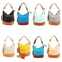 Ladies Designer Bucket Bag Women Girls Shoulder Tassel Handbag Faux Leather New