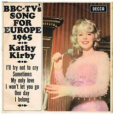 KATHY KIRBY BBC TV's Song for Europe 1965 Decca DFE 8611