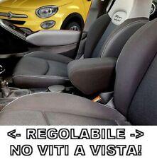 bracciolo + REGOLABILE per Fiat 500X tessuto nero 1 Pezzo ORIGINALE WOOD COMPANY