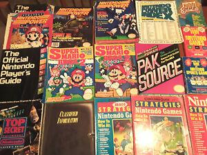 Nintendo NES official player's guide, super mario bros 3 book power magazine LOT