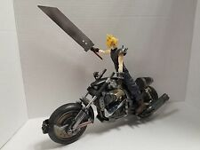 "FINAL FANTASY ADVENT CHILDREN CLOUD 7"" & FENRIR MOTORCYCLE 12"" FIGURE SET!"