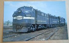 New York Central Engines #1813 #1699 #1742 EMD F7As in 1967 Train Postcard