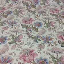 "Beautiful French Cotton Sateen Hand Block Print.""Flowers And Palmettes"