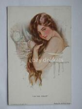 Harrison Fisher AT THE TOILET sexy lady old postcard vecchia cartolina AK