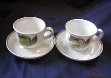 DENBY TROUBADOR 2 X TEA CUPS AND SAUCERS