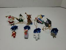 """Rudolph The Red Nosed Reindeer Mini Christmas Tree Ornaments Lot of 8 (1.5"""")"""