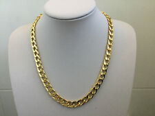 Heavy Mens 20' inch Gold Stainless Steel Necklace Cuban Curb Link Chain 10mm N2