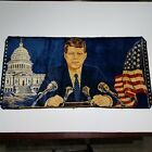 """37""""x19"""" John F. Kennedy Wall Hanging Tapestry! White house! Conference! USA Flag"""