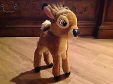 "Vintage DISNEY PROMOTIONAL PRODUCT-12"" BAMBI Plush-Plastic Eyes/Pleather Hooves"