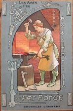 Chocolate/Chocolat Lombart 1915 Color Litho Advertising Postcard: Blacksmith