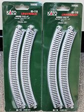 "LOT of 2 - N Scale KATO UNITRACK 20-110 Curved Track R11""-45* 4 Pieces per Pack"