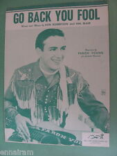 Go Back You Fool 1955 by Robertson & Blair, Faron Young cover