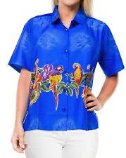 La Leela Likre Camp Aloha Beach Top Shirt Bright Blue 340|Xxl - Us 44 - 48C