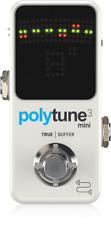 New TC Electronic Polytune 3 Mini Guitar Tuner Pedal w/ Bonafide Buffer
