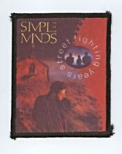 Simple Minds 'Street Fighting Years' Vintage Patch RARE