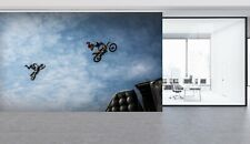 3D Motorcycle Extreme Sports A24 Car Wallpaper Mural Self-adhesive Removable Zoe