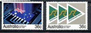 Australia MNH #1009-10 1987 Australia Day Flag Symbol G503