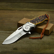 Elk Ridge Ballistic Assisted Opening Faux Jigged Bone Handle Linerlock Knife