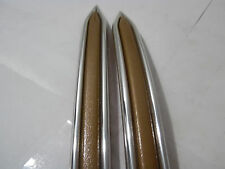 CLASSIC VINTAGE BEIGE CHROME BODY SIDE MOLDING TRIM MOULDING DOOR FENDER 7/8""