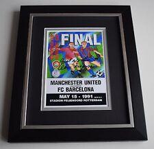 Alex Ferguson SIGNED 10X8 FRAMED Photo Display Manchester United ECWC 1991 COA